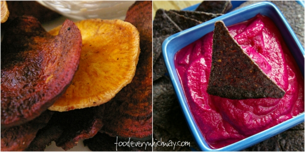 beet chips and beet dip
