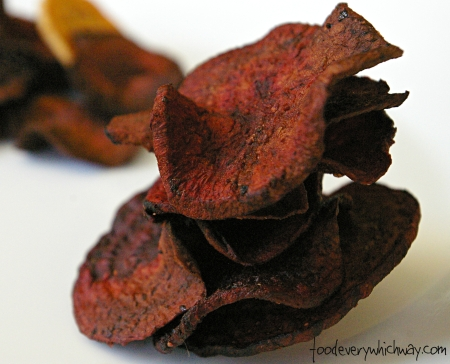 stack of beet chips